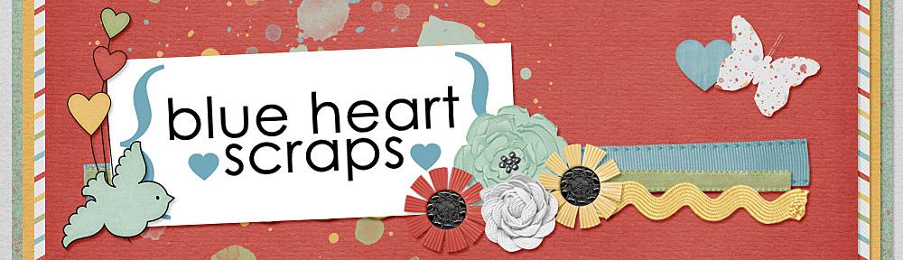 Blue Heart Scraps